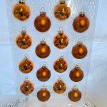 ガラスボールΦ25 オレンジゴールド  2種X10コ